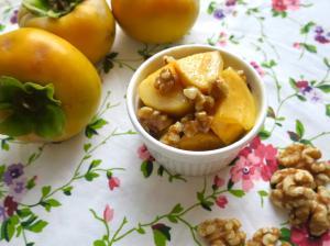 柿と胡桃のマリネ
