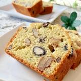 余った黒豆で♫クルミと黒豆の米粉パウンドケーキ