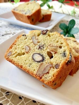 おせちリメイク♡クルミと黒豆の米粉パウンドケーキ