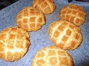 強力粉のみで作るメロンパン