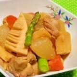 味噌で大根の甘みと旨み倍増☆大根と筍の煮物
