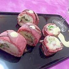 ローストビーフで巻き寿司