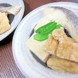甘塩タラと高野豆腐、油揚げの炊いたん