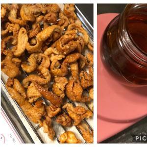 【低糖質】鶏皮のカリカリと鶏油(チーユ)