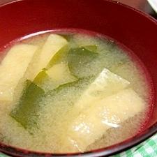 簡単☆わかめと豆腐のお味噌汁