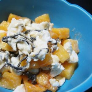 柿の塩昆布クリームチーズ和え
