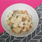 学校の給食の具だくさん麻婆豆腐「豆腐の湯通しなし」
