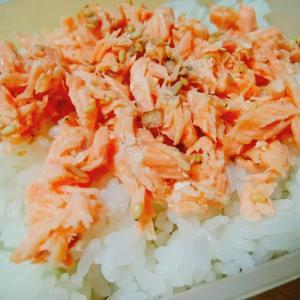 幼児食 手作りの鮭フレーク丼