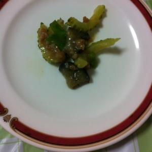炒めて簡単♪ひき肉&ゴーヤの甜麺醤炒め