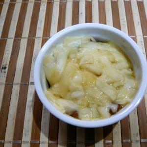 納豆と玉ねぎのチーズ焼き