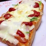 一枚で二度美味しいピザトースト
