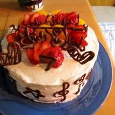 娘への♪ 7歳のお誕生日ケーキ