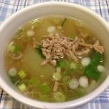 冬瓜のひき肉旨味スープ♪