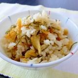 干し鱈と切り昆布の炊き込みご飯