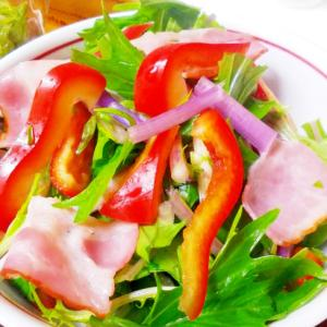 紫水菜とベーコンのサラダ