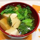 ヘルシーレシピ☆豆腐とレタスの香酢スープ