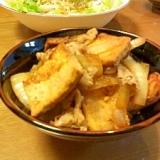 豚焼き豆腐丼