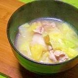 毎日のお味噌汁78杯目*柚子胡椒、白菜、豚肉