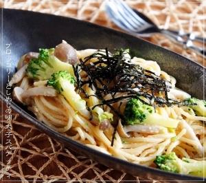 美味♡ブロッコリーとしめじの明太子スパゲッティ