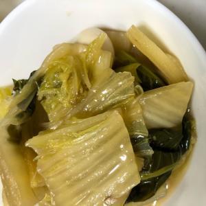うずら卵と白菜と小松菜の煮浸し(^^)