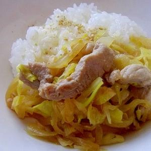 簡単旨い*春キャベツと豚の味噌マヨ炒めごはん*