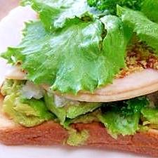 アボカド大好き!アボカドオープンサンドイッチ