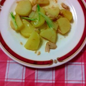 炒めるだけ♬ツナ&水菜&じゃがいもの炒め物