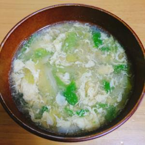 白菜とネギの生姜スープ