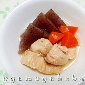 鶏むね肉とこんにゃくの煮物