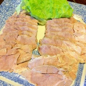 ジューシー☆ゆで豚ネギソース
