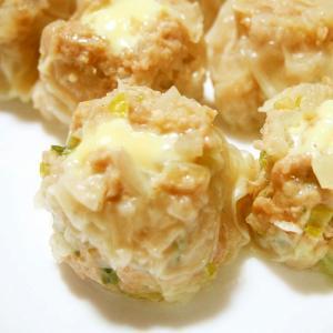 小松菜・チーズ入りシュウマイ!とろける♪