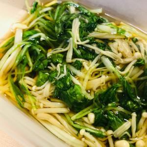 レンジで簡単♪えのきと水菜のおひたし