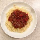 給食のソフト麺とミートソース再現!