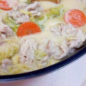 簡単暖まる~!白菜と豚肉のヘルシー酒粕豆乳鍋♪