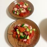 たこ きゅうり トマトのカルパッチョ