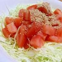 トマトとごまのサラダ