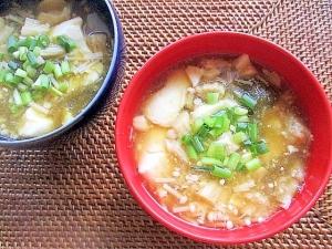 豆腐とえのきのとろとろスープ