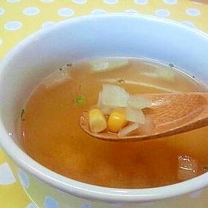 玉ねぎとコーンのスープ