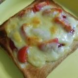 忙しい朝に【超簡単】なんちゃってピザトースト