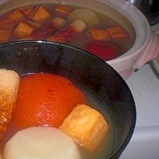 おでんを作るときは入れてみて〜♡トマト♡