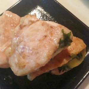 鶏ささみ肉のシソとチーズサンド