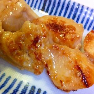 皮なし鶏胸肉で   味噌味醂漬け焼き