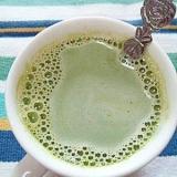 抹茶あずきミルク風☆ゆであずき&青汁きなこ牛乳♪