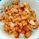 納豆の食べ方-酒粕&ハンバーグ♪