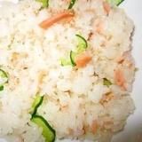 鮭ときゅうりの散らし寿司