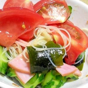 ビーフンを使った中華風サラダ