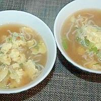 白滝と卵の中華スープ