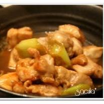 鶏もも肉と白ねぎの煮物