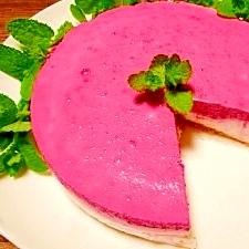 二色☆ビーツのレアチーズケーキ