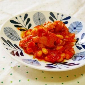 もも肉と大豆のトマト煮込み♪簡単で濃厚♪